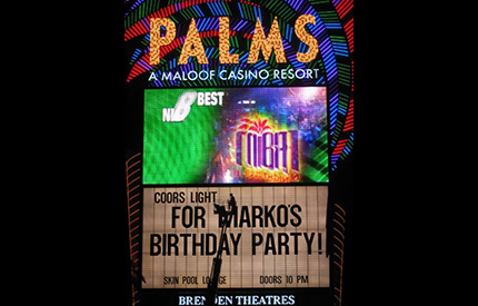 Marko Greisen Palms birthday billboard
